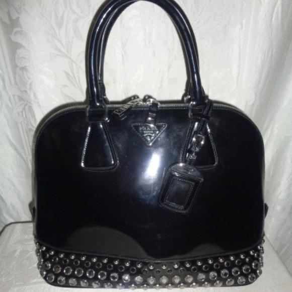 52724de21f64 PRADA Black Studded Jeweled Spazzolato Purse $2495.  M_5bb5412fc61777d4b4b8e970